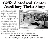 Gifford Auxiliary Thrift Shop